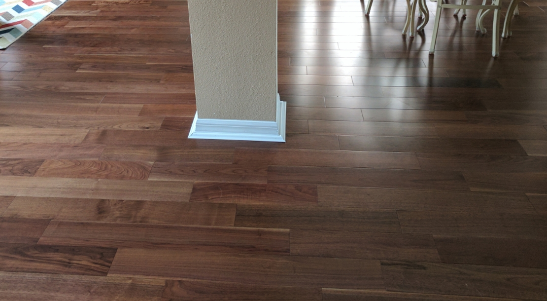 American Walnut Prefinished Engineered install photo