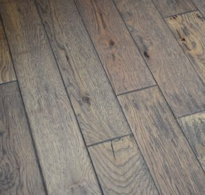 Hand Scraped Hickory Weathered Creek Prefinished Solid wood floors